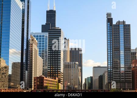 Skyscrapers, Chicago, Illinois, United States of America, North America - Stock Photo