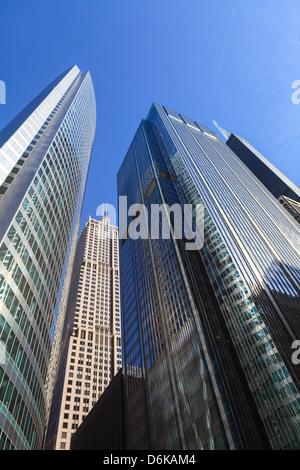 Modern skyscrapers, Chicago, Illinois, United States of America, North America - Stock Photo