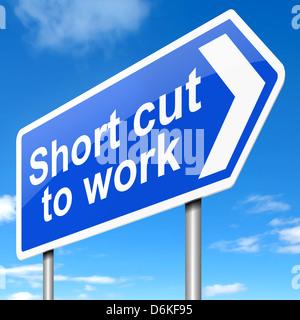 Short cut. - Stock Photo