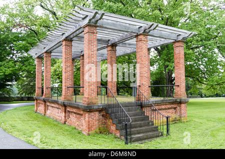 The Speaker's Rostrum located in Gettysburg National Cemetery - Stock Photo