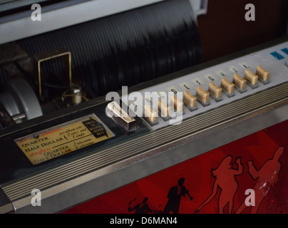 Vintage jukebox in working order - Stock Photo