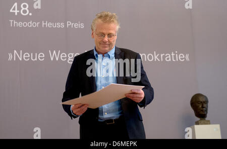 Daniel Cohn-Bendit, EU politician of the Greens and publicist, on stage during the award ceremony of the Theodor - Stock Photo