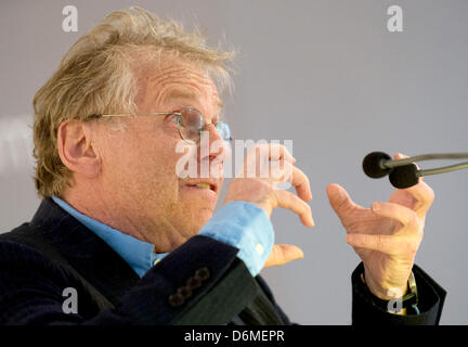 Daniel Cohn-Bendit, EU politician of the Greens and publicist, speaks during the award ceremony of the Theodor Heuss - Stock Photo