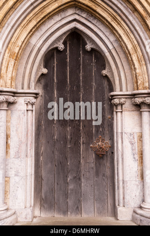 A Door on Salisbury Cathedral in Salisbury , Wiltshire , England , Britain , Uk - Stock Photo