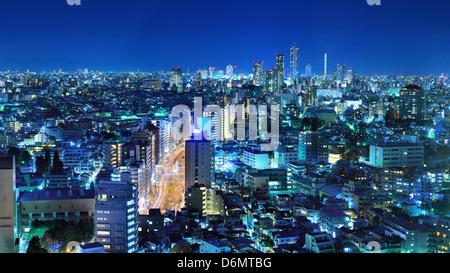 Tokyo, Japan panorama at Bunkyo Ward. - Stock Photo