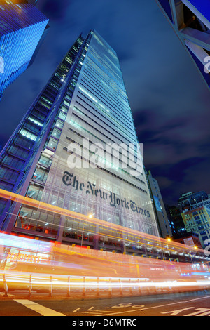 The New York Times Building in New York City - Stock Photo