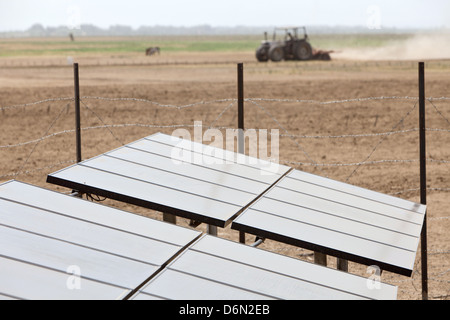 Awash, Ethiopia, solar panels for the power of planned water pumps - Stock Photo