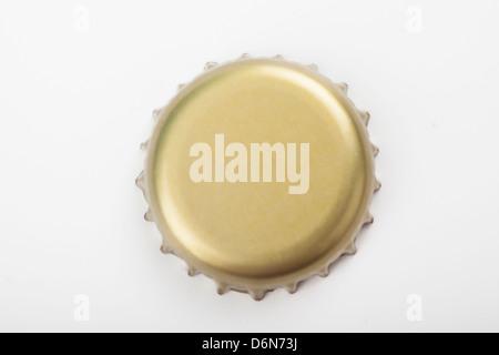 bottle cap isolate over white background - Stock Photo