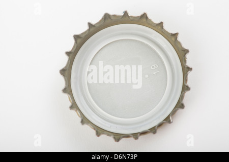 bottle cap isolate over white background - Stock Photo