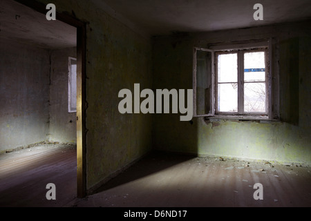 Zossen, Germany, Interior shot of an abandoned building on the former Soviet Army Kasernengelaende - Stock Photo