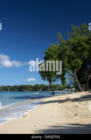 Holetown, Barbados, on the beach in Holetown's St. James Beach - Stock Photo