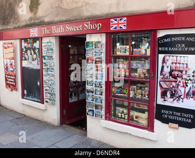 A Sweet shop in Bath a Georgian City in somerset England UK - Stock Photo