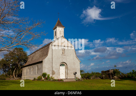St. Joseph's Church, Kaupo, Maui, Hawaii - Stock Photo