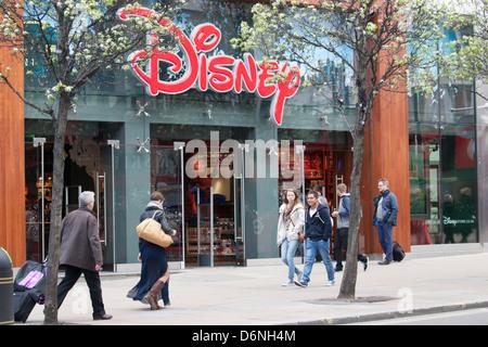 Disney store Oxford street London - Stock Photo