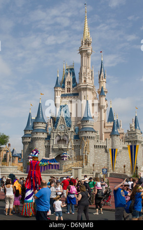 Cinderellas Castle in Walt Disney World Resort in Orlando, Florida. - Stock Photo
