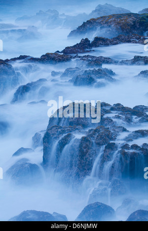 ocean waves, MacKenzie State Recreation Area, Big Island, Hawaii - Stock Photo