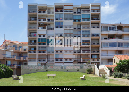 Le Barcares, France, apartment flats in a residential complex - Stock Photo