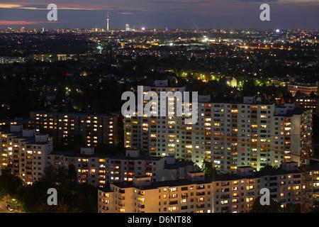 Berlin, Germany, Gropius survey of the city at dusk