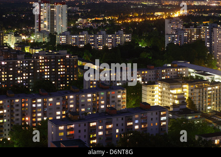 Berlin, Germany, Gropius survey of the city at dusk - Stock Photo