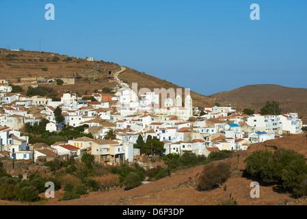 Driopida, ancient village, Kythnos, Cyclades, Greek Islands, Greece, Europe - Stock Photo