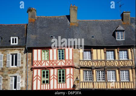 Treguier, Cote de Granit Rose, Cotes d'Armor, Brittany, France, Europe - Stock Photo