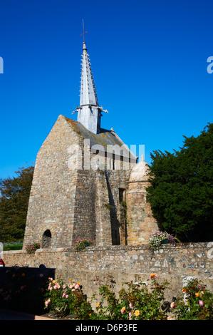 Chapel Saint-Gonery, Plougrescant, Cote de Granit Rose, Cotes d'Armor, Brittany, France, Europe - Stock Photo