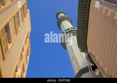 Mosque near The Deira Souk, The Creek, Dubai, United Arab Emirates, Middle East - Stock Photo