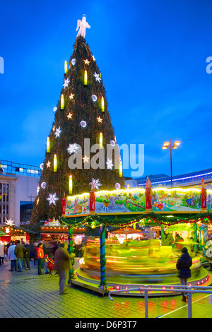 Christmas Market and the Biggest Christmas Tree in the World Stock ...