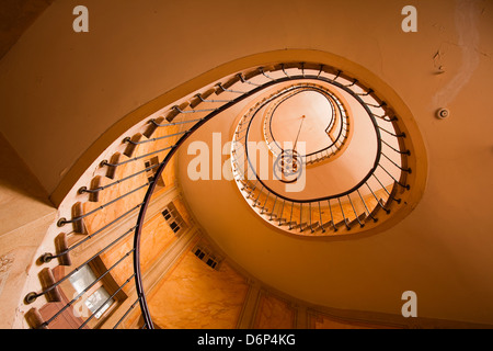 A spiral staircase in Galerie Vivienne, Paris, France, Europe - Stock Photo