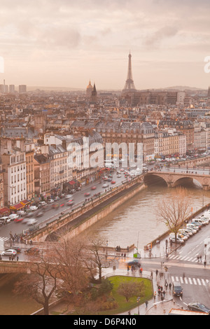 The city of Paris from Notre Dame cathedral, Paris, France, Europe - Stock Photo