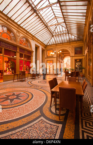 Galerie Vivienne in Paris, France, Europe - Stock Photo