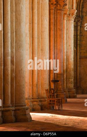 Solitude inside Saint Pierre church abbey in Chartres, Eure-et-Loir, Centre, France, Europe - Stock Photo