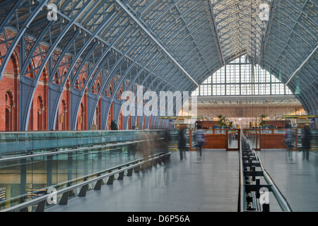 St. Pancras International railway station, London, England, United Kingdom, Europe - Stock Photo