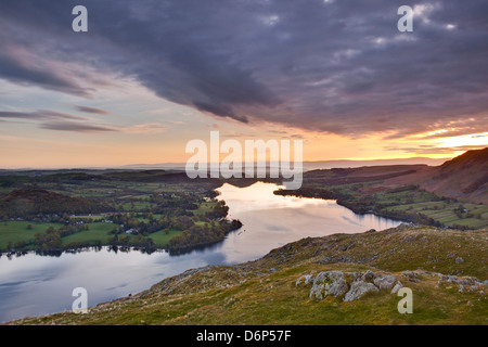 Ullswater in the Lake District National Park, Cumbria, England, United Kingdom, Europe - Stock Photo