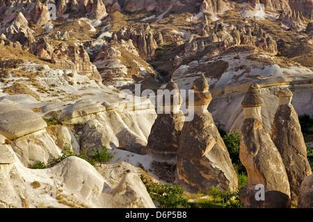 Cappadocia landscape, Cavusin, (Pasabag), near Zelve, Anatolia, Turkey, Asia Minor, Eurasia - Stock Photo