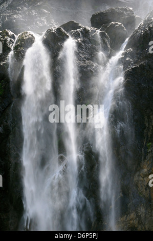 Gavarnie Falls, Cirque de Gavarnie, Pyrenees National Park, Hautes-Pyrenees, France, Europe - Stock Photo