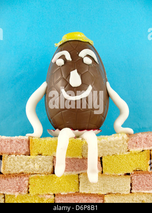 Humpty Dumpty sat on a wall, UK 2013 - Stock Photo