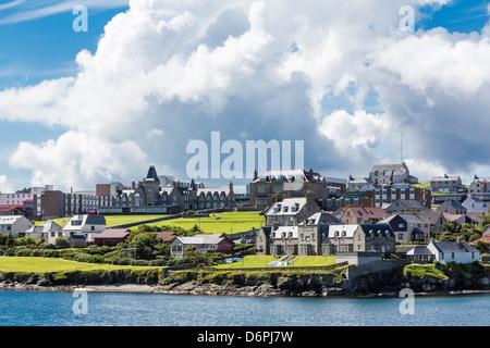Views of the port city of Lerwick, Shetland Islands, Scotland, United Kingdom, Europe - Stock Photo