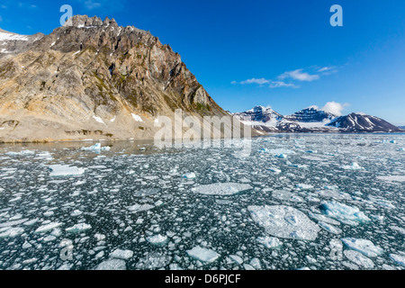 Gnalodden cliff, Hornsund, Spitsbergen, Svalbard Archipelago, Norway, Scandinavia, Europe - Stock Photo