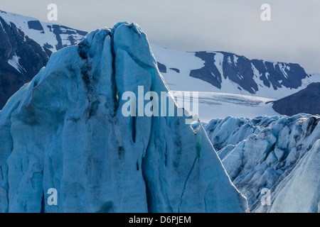 Tidewater glacier, Hornsund, Spitsbergen, Svalbard Archipelago, Norway, Scandinavia, Europe - Stock Photo