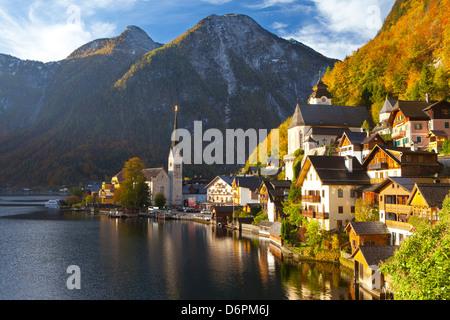 Hallstatt, UNESCO World Heritage Site, Salzkammergut, Austria, Europe - Stock Photo