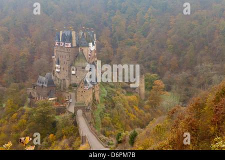 Eltz Castle in autumn, Rheinland-Pfalz, Germany, Europe - Stock Photo