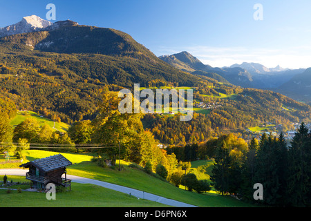 Overview of Berchtesgaden, Bavaria, Germany, Europe - Stock Photo