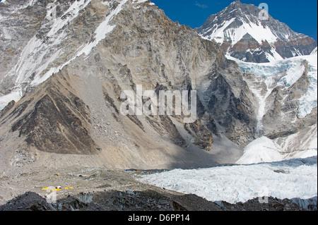 Everest Base Camp, Solu Khumbu Everest Region, Sagarmatha National Park, Himalayas, Nepal, Asia - Stock Photo