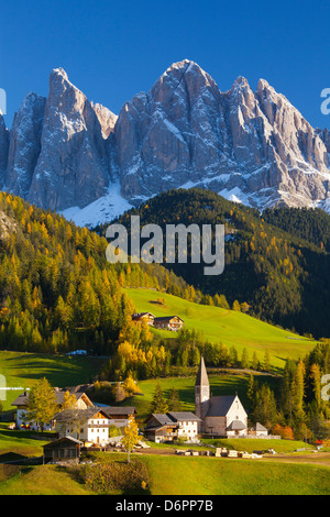 St. Magdalena, Val di Funes, Trentino-Alto Adige, Dolomites, South Tyrol, Italy, Europe - Stock Photo
