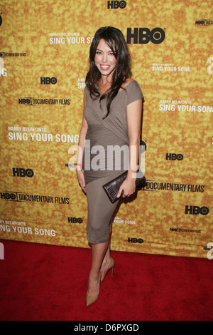 Jaimyse Haft Premiere of the HBO documentary 'Harry Belafonte Sing Your Song' at the Apollo Theater - Arrivals New - Stock Photo