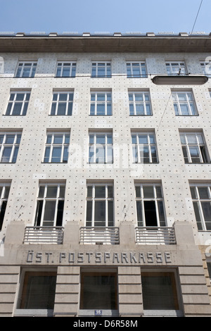 Austrian Postal Savings Bank building - Stock Photo