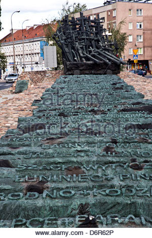 Poland, Warsaw, Monument to those Fallen and Murdered in East - Stock Photo