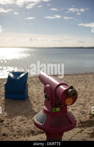 Eckernfoerde, Germany, a Coin-on the beach, overlooking the Baltic Sea - Stock Photo