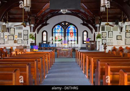 Elmslie Memorial United Church, George Town, Grand Cayman, Cayman Islands, Greater Antilles, Caribbean - Stock Photo